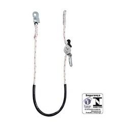 Talabarte de Posicionamnto em Corda com Regulador Inox [ MULT0004B ] - MG Cinto