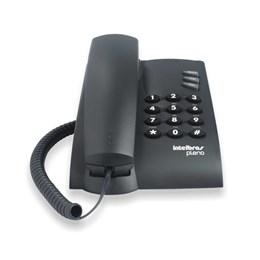 Telefone com Fio Preto [ Pleno/PT ] - Intelbras