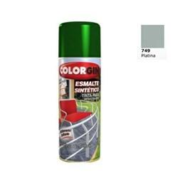 Tinta Spray Platina - Esmalte Sintético [ 749 ] - Colorgin