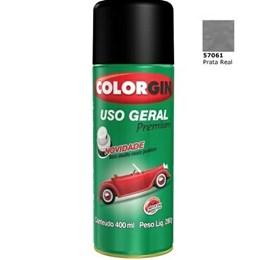 Tinta Spray Prata Real    - Uso Geral [ 57061 ] - Colorgin