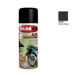Tinta Spray Preto Fosco   - Alta Temperatura [ 5722 ] - Colorgin