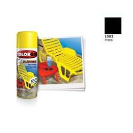 Tinta Spray Preto - Plásticos [ 1502 ] - Colorgin