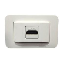 Tomada Embutir Móveis 01 HDMI Branco 00010.16498178 Lumitek