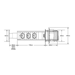 Torre de 3 Tomadas Multiplug 3500W [ 3.650.1615 ] - Renna