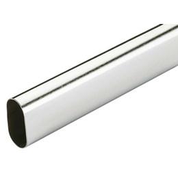 Tubo Cabideiro Oblongo 3.00M Inox Polido [ 3.650.4501 ] - Renna