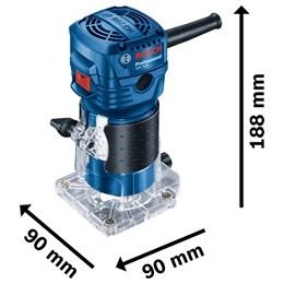 Tupia 550W Pinça 6MM 33000RPM [ GKF 550 ] 220V Bosch