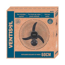 Ventilador Oscilante Parede 60 cm Branco Grade Aço - Ventisol