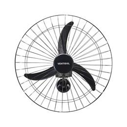 Ventilador Oscilante Parede 60 cm Preto Grade Aço Ventisol