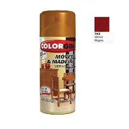 Verniz Spray Móveis e Madeira Mogno Brilhante [ 763 ] - Colorgin
